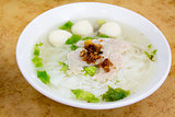 Southeast Asian Fishball Noodle Soup