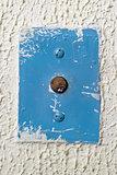 circular antique elevator call button