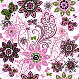 Seamless spring vintage pattern