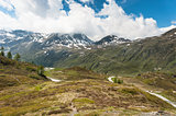 Panoramic view on Simplon Pass