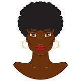 Vector portrait of a beautiful African-American woman