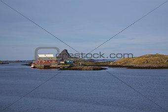 Fishing port on island