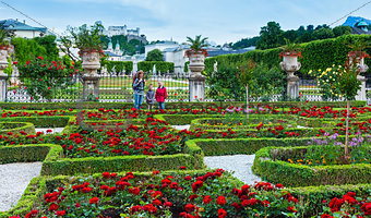 Family in the summer garden (Salzburg, Austria)