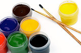 Watercolors and Paintbrushes