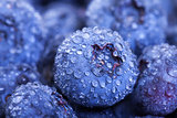 Wet Fresh Blueberries Berries