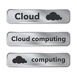 Cloud computing metallic web elements, buttons