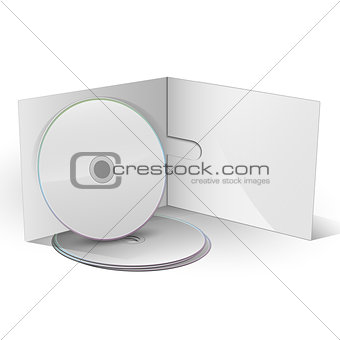 Blank CD DVD in paper case