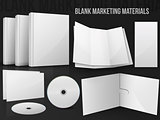 Blank office marketing materials