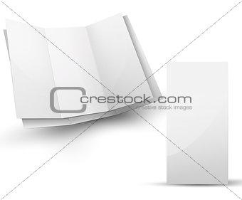 Blank folded brochure for your design presentation