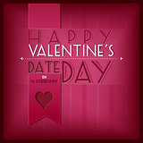 Vlentines's day greeting card