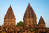 Prambanan temple in indonesia