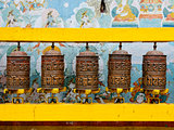 Prayer wheels at Bodhnath stupa in Kathmandu
