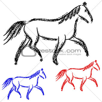 horses outlines.