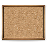 Blank cork board