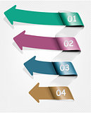 Set of info graphics banners with numbers. Vector illustration