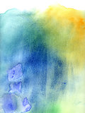 Blue and green abstract watercolor background
