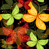 Seamless dark autumn pattern