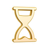 golden hourglass symbol