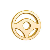 golden steering wheel