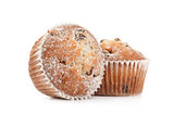 Fresh muffin close up