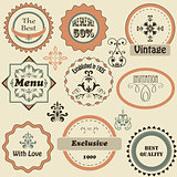 Vector Retro Labels