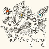 Spring Vector Greeting Card