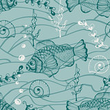 Vector Seamless Underwater Pattern