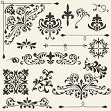 vector  vintage floral  design elements 