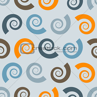 Vector Seamless Pattern with Shells