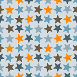 Vector Seamless Pattern with Starfishes