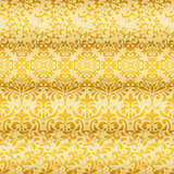 Vector Seamless Golden Floral Borders