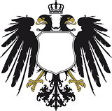 Double-headed eagle with crown
