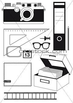 Camera and utensils