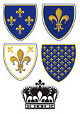 Heraldry Lily, fleur de lis
