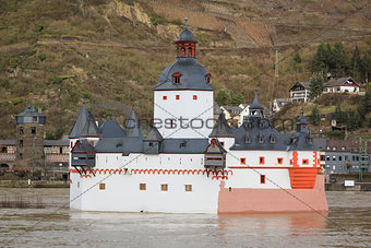 Rhine River Castle Pfalzgrafenstein Germany