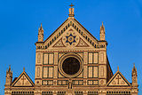 Church of basilica Santa Croce in Florence, Italy. 