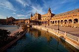 Plaza de Espana in Sevilla