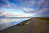 road by North Sea in Netherlands