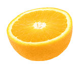 Half of fresh orange