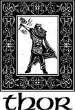 Norse God Thor With Border