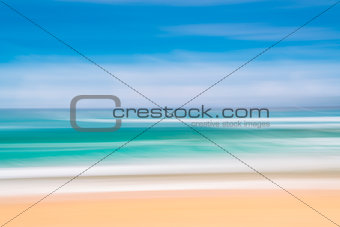 Ocean, wind and waves abstract