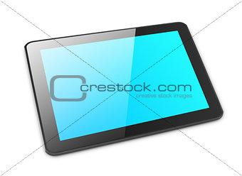 Modern tablet pc on white