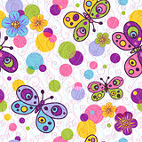 Seamless spring vivid pattern