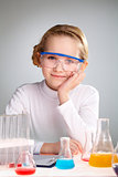Laboratory girl