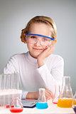 Laboratory girl