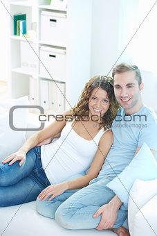 Cuddling at home