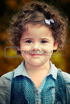 Baby girl portrait outdoor