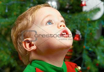 Baby boy on Christmas