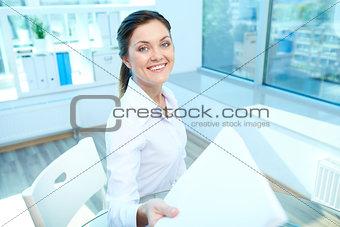 Happy employer