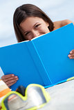 Sunbather with book